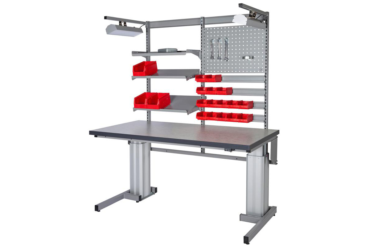 Montageborde med overbygning
