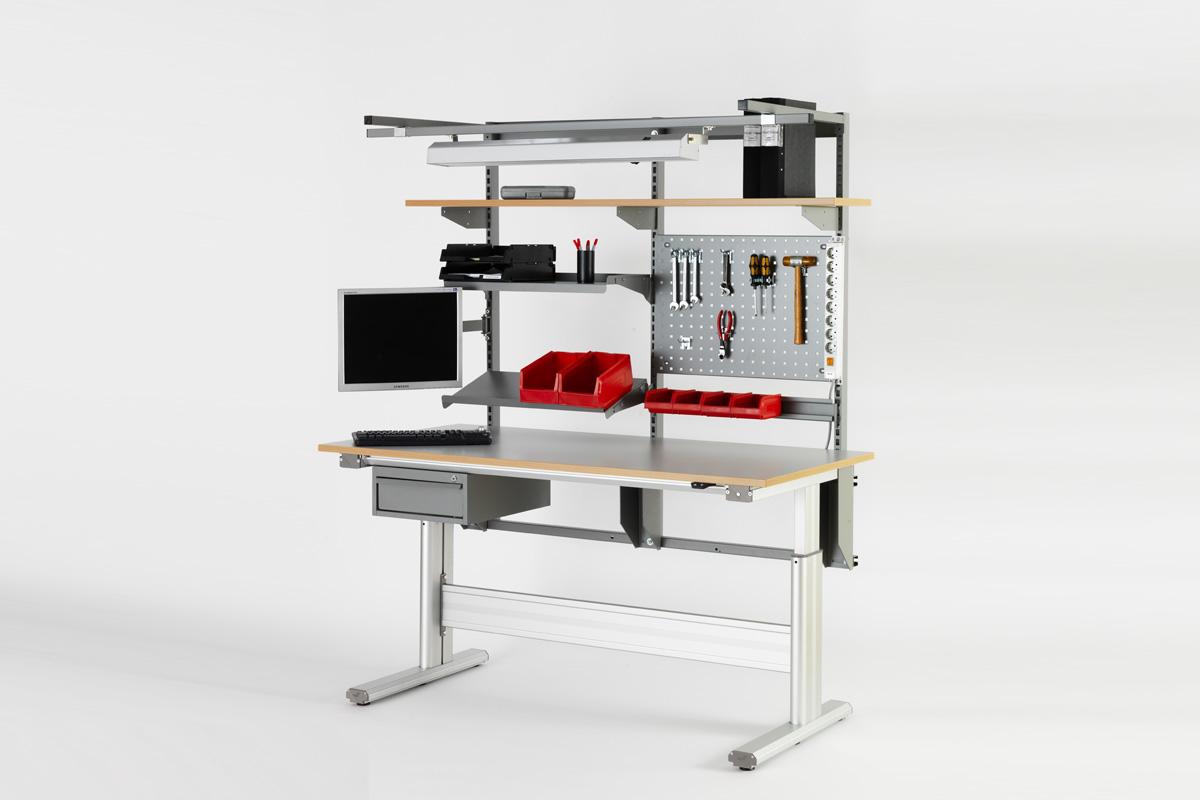 Værkstedsborde med Elektrisk hæve/sænkebord